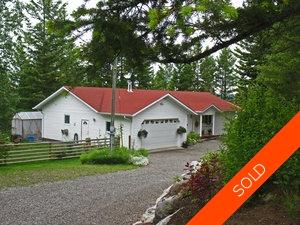 Williams Lake House with Acreage for sale:  3 bedroom 1,836 sq.ft. (Listed 2013-02-01)