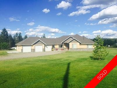 Williams Lake House with Acreage for sale:  4 bedroom 5,500 sq.ft. (Listed 2016-04-20)